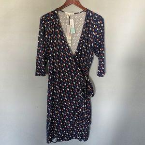 NEW Uttam Boutique Paddy Bird Wrap Dress
